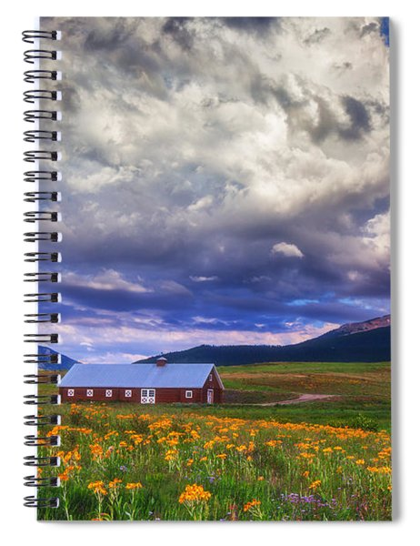 Crested Butte Morning Storm Spiral Notebook