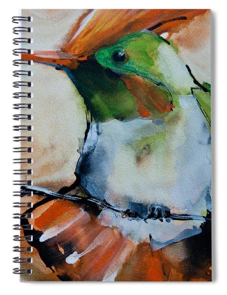 Crested Croquette Hummingbird Spiral Notebook