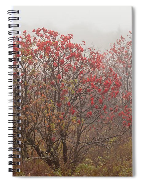 Crimson Fog Spiral Notebook