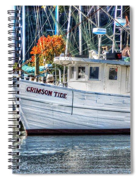 Crimson Tide In Harbor Spiral Notebook