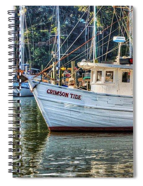 Crimson Tide In The Sunshine Spiral Notebook