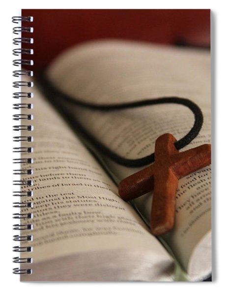 Cross And Bible Spiral Notebook