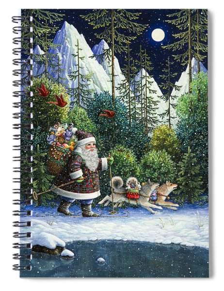 Cross-country Santa Spiral Notebook