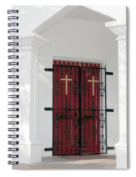 Key West Church Doors Spiral Notebook