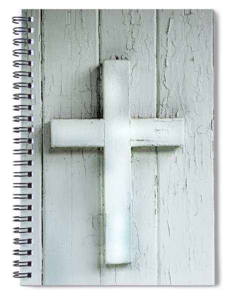 Cross On Holy Angels Sugar Island Michigan Spiral Notebook