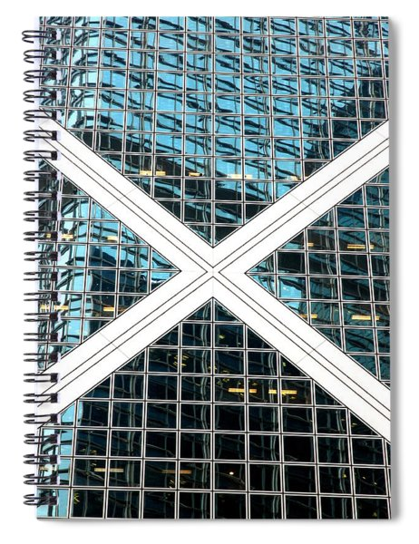 Crossed Spiral Notebook