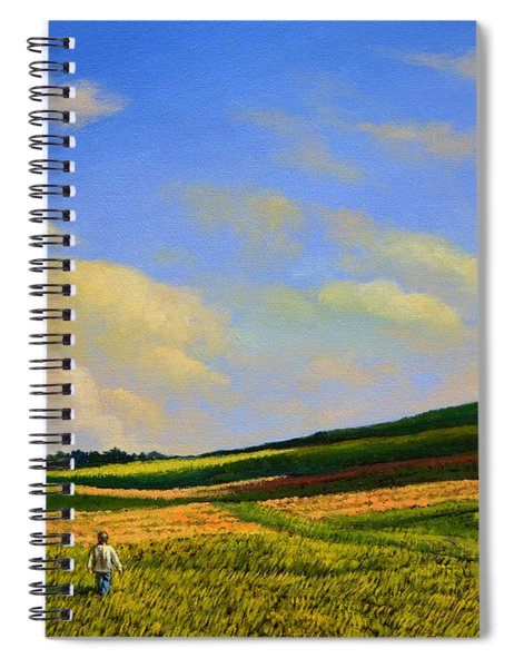 Crossing The Field Spiral Notebook
