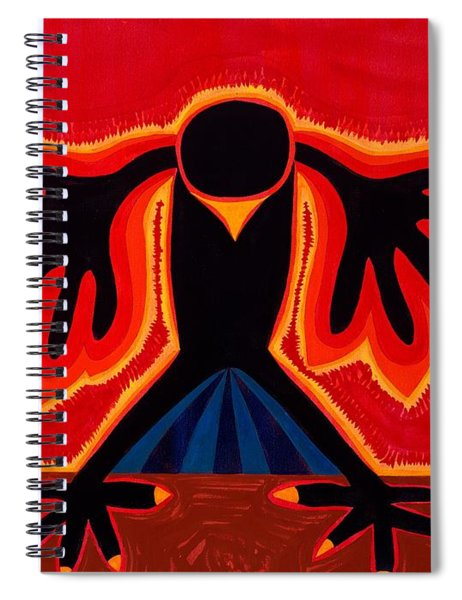 Crow Rising Original Painting Spiral Notebook