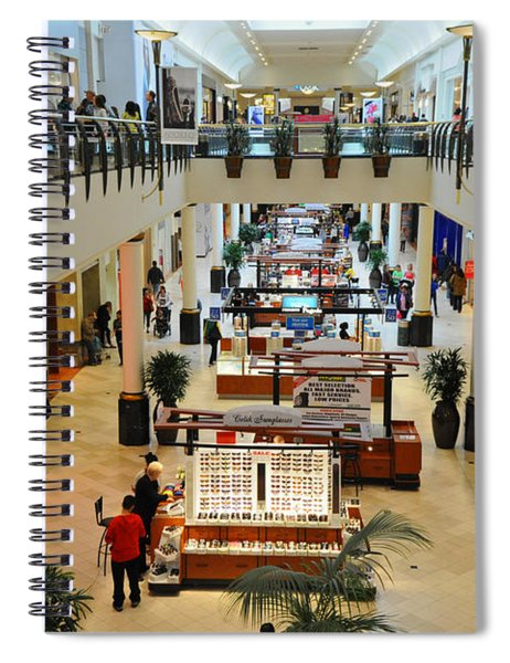 Crowded Mall On A Rainy Afternoon Spiral Notebook