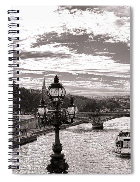Cruise On The Seine Spiral Notebook