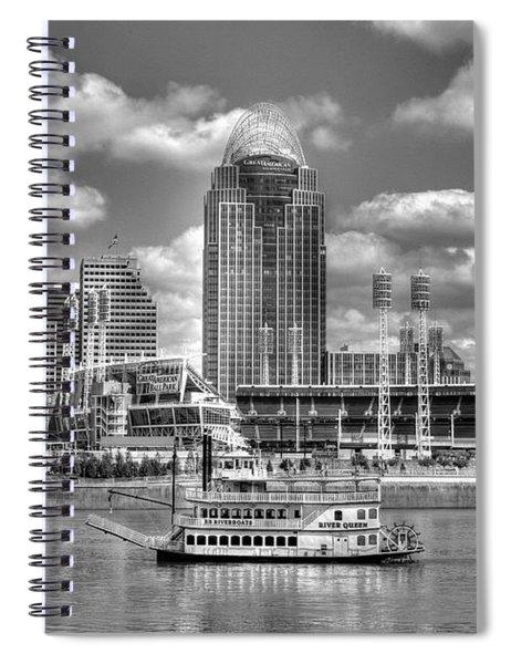 Cruising By Cincinnati 4 Bw Spiral Notebook