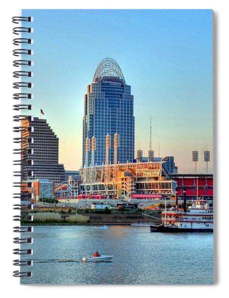 Spiral Notebook featuring the photograph Cruising By Cincinnati by Mel Steinhauer