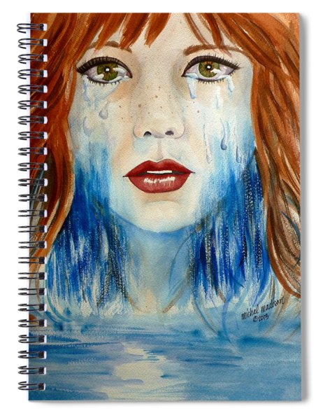 Crying A River Spiral Notebook