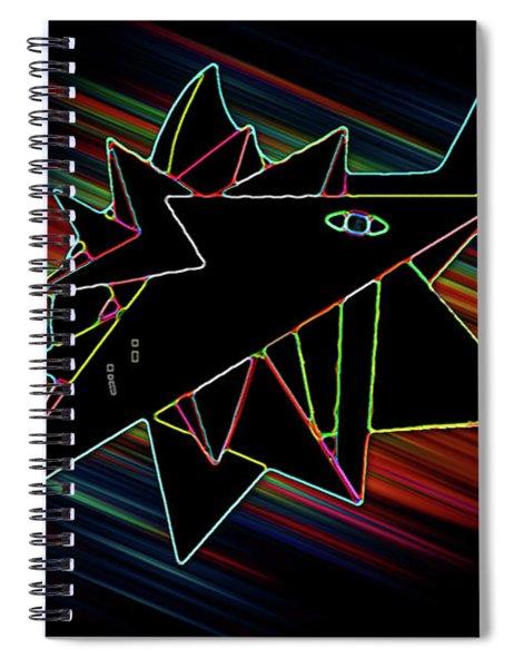 Crystal White Spiral Notebook