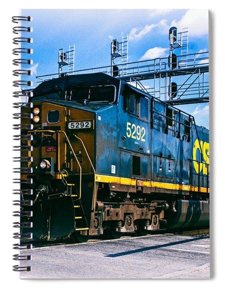 Csx 5292 Warner Street Crossing Spiral Notebook