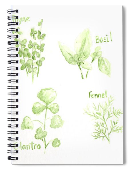 Culinary Herbs Leafy Greens Spiral Notebook