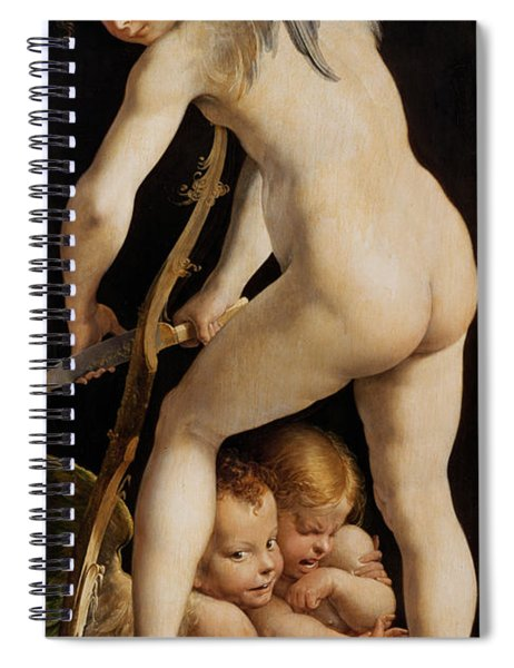 Cupid Carving A Bow Spiral Notebook