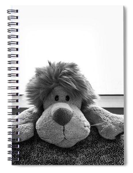 Curious Leo Spiral Notebook