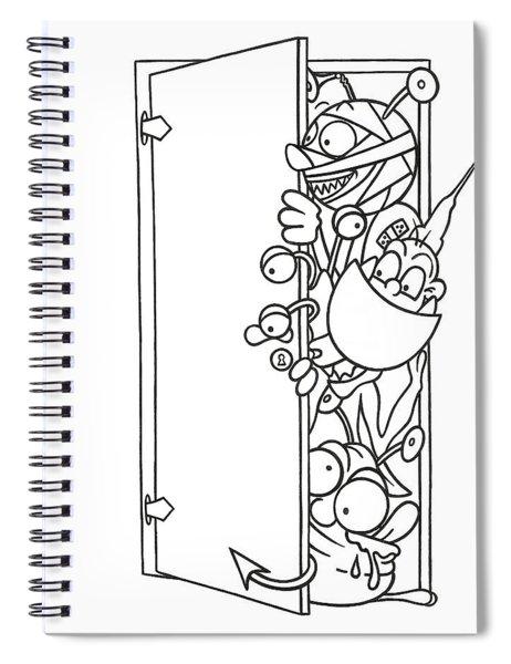 Curious Monster Spiral Notebook