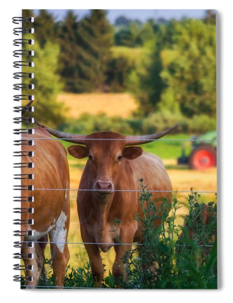 Spiral Notebook featuring the photograph Curiousity by Garvin Hunter