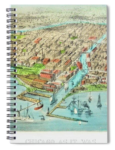 Currier & Ives Illustration Of Chicago Spiral Notebook