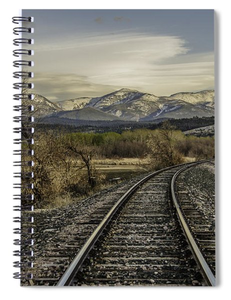 Curve In The Tracks Spiral Notebook
