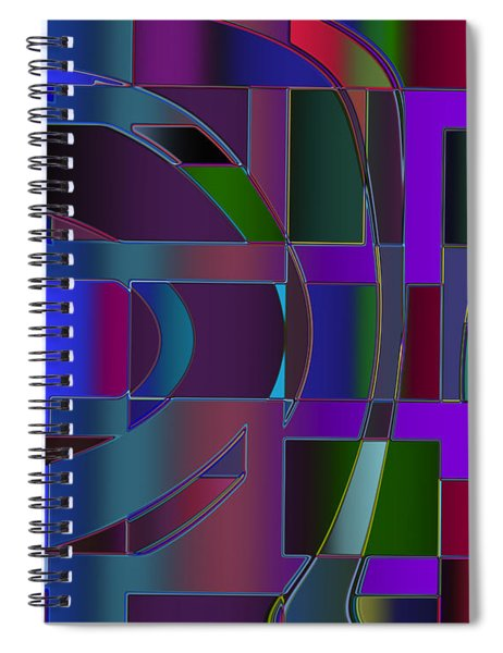 Curves And Trapezoids 2 Spiral Notebook