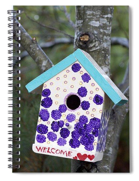 Cute Little Birdhouse Spiral Notebook