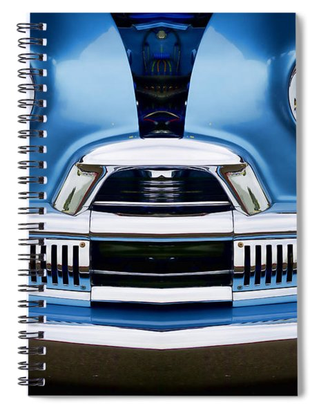 Cute Little Car Faces Number 4 Spiral Notebook