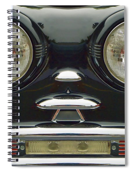 Cute Little Car Faces Number 6 Spiral Notebook