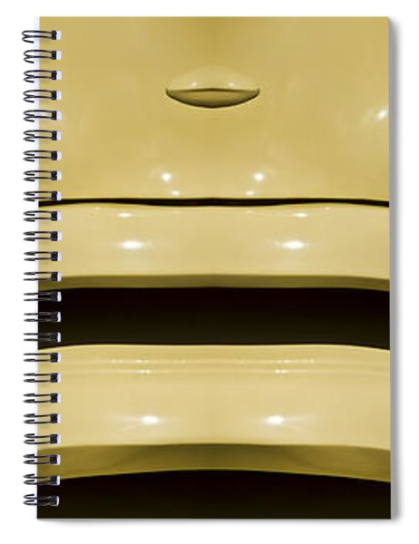 Cute Little Car Faces Number 9 Spiral Notebook