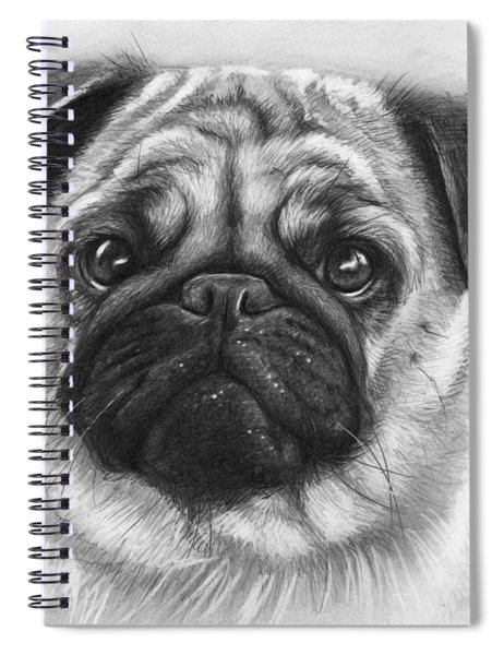 Cute Pug Spiral Notebook