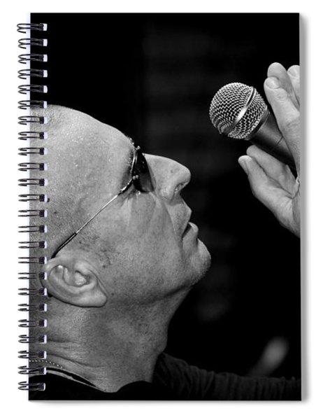 Cy Curnin The Fixx By Diana Sainz Spiral Notebook