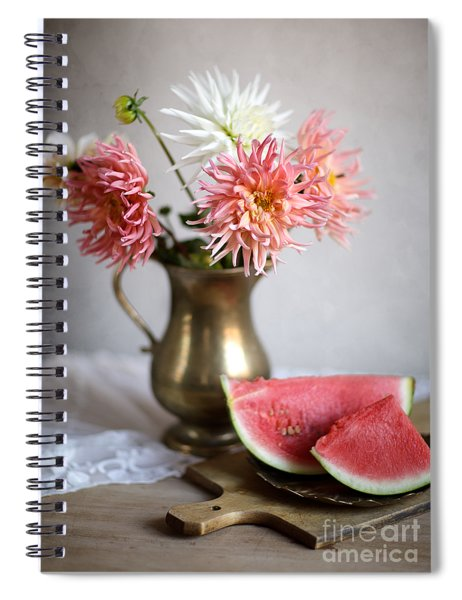 Dahlia And Melon Spiral Notebook