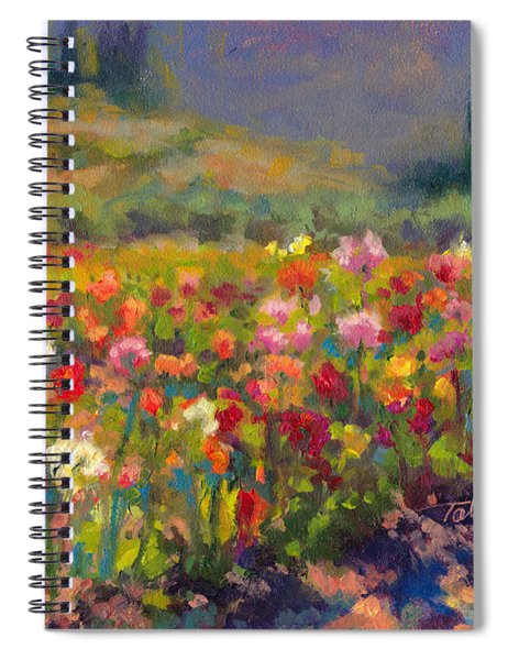 Dahlia Row Spiral Notebook