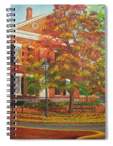 Dahlonega's Gold Museum In Autumn Spiral Notebook