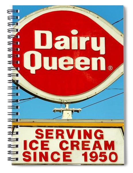 Dairy Queen Sign Spiral Notebook