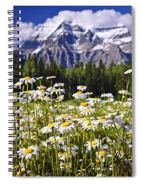 Daisies At Mount Robson Spiral Notebook