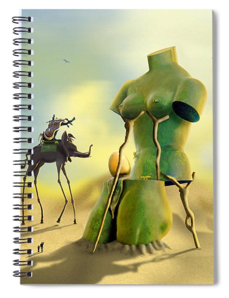 Dali On The Move  Spiral Notebook