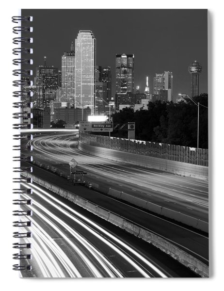 Dallas Arrival Bw Spiral Notebook