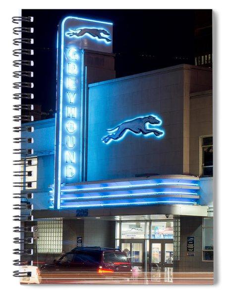 Dallas Greyhound V2 020915 Spiral Notebook