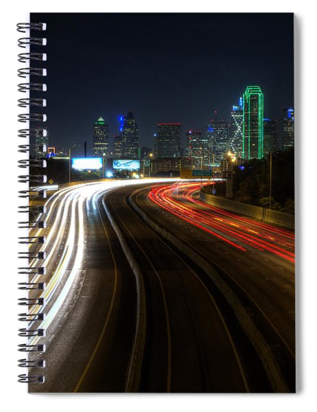 Dallas Night Light Spiral Notebook