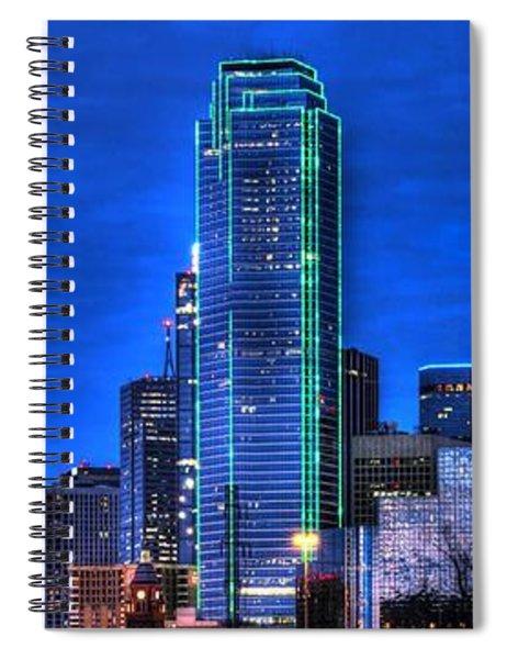 Dallas Skyline Hd Spiral Notebook