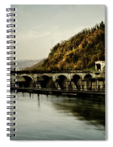 Dam On Adda River Spiral Notebook