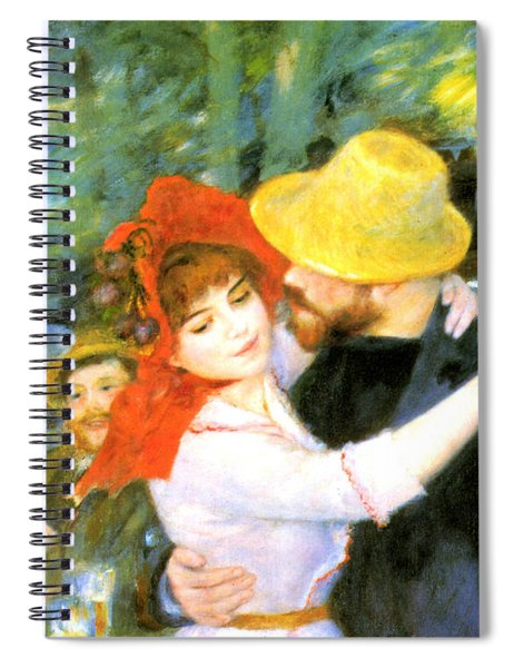 Dance At Bougival Detail Spiral Notebook