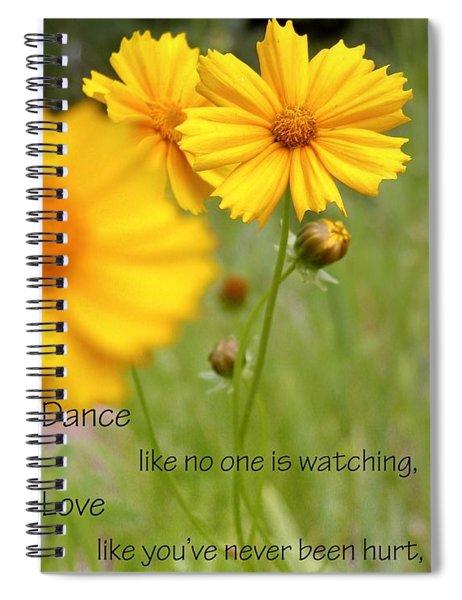 Dance Love Work 200509 Spiral Notebook