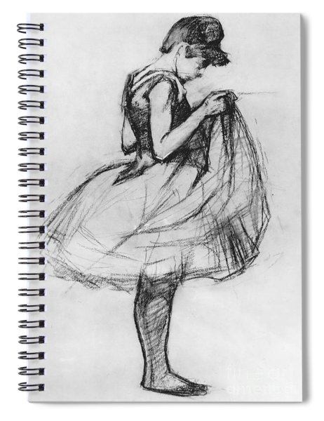 Dancer Adjusting Her Costume And Hitching Up Her Skirt Spiral Notebook
