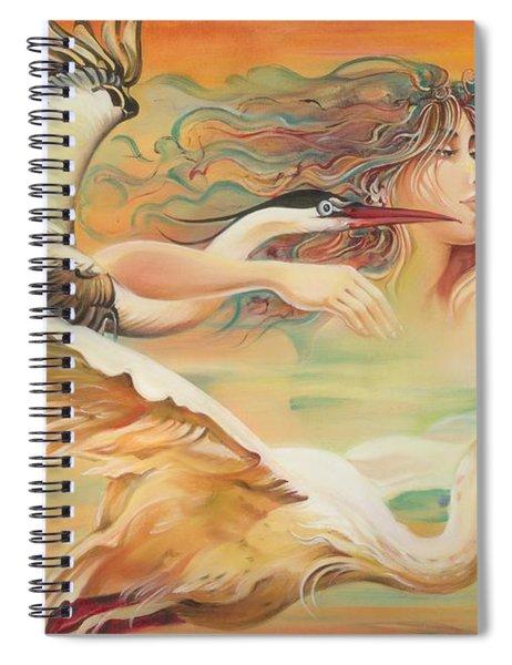 Dancing With Birds Spiral Notebook