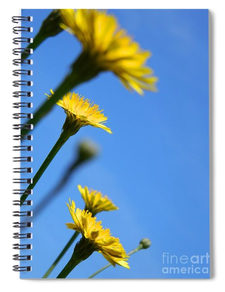 Dancing With The Flowers Spiral Notebook