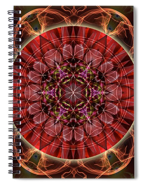 Dancing With The Solar Flares Spiral Notebook